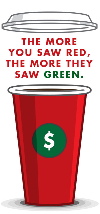 The more you saw red, the more they saw green.